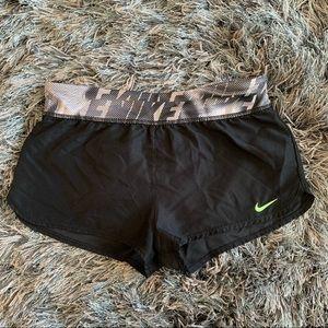 Nike Shorts Fits Adult XXSmall Black/Lime Green
